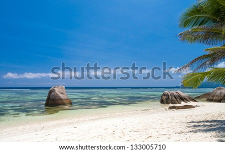 Tropical Beach in The Seychelles