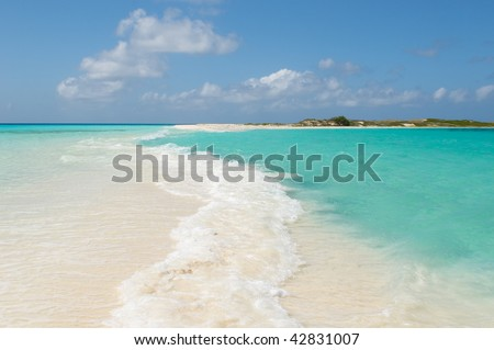tropical beach, los roques islands, venezuela