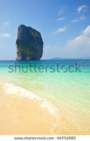 Tropical beach of island