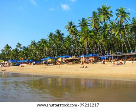 Tropical beach of Palolem, Goa, India