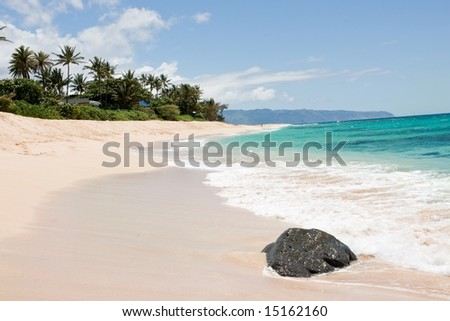 Tropical beach on hawaii