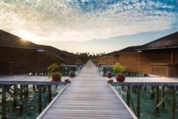 Tropical beach side maldives