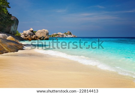 Tropical beach, Similan Islands, Andaman Sea,Thailand