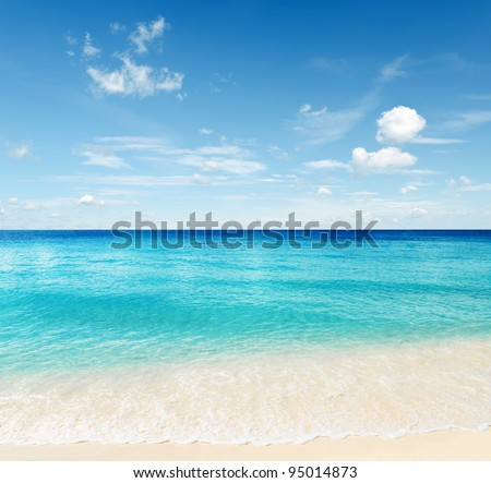 Tropical beach. Sky and sea. #95014873