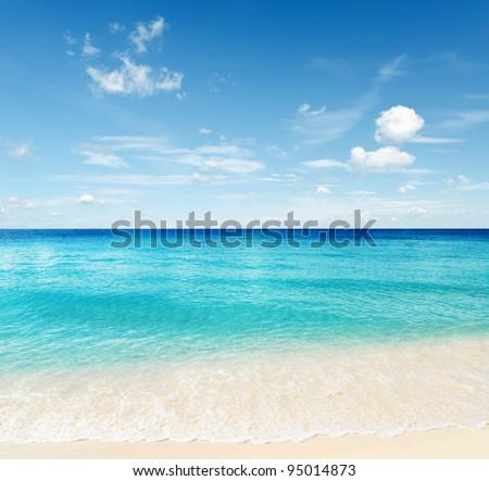 Tropical beach. Sky and sea. #95014873