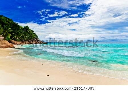 Tropical beach. The Seychelles #216177883