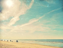 Tropical beach vintage background