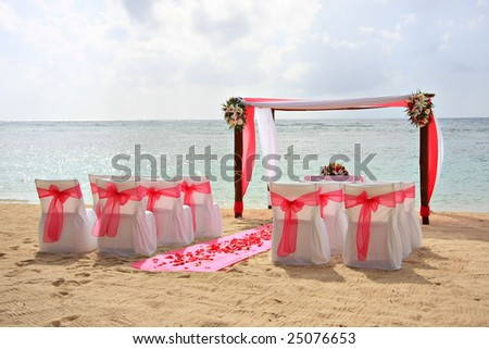 stock photo Tropical beach wedding