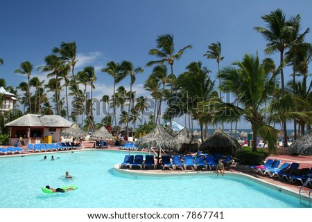 Tropical beachfront all-inclusive resort