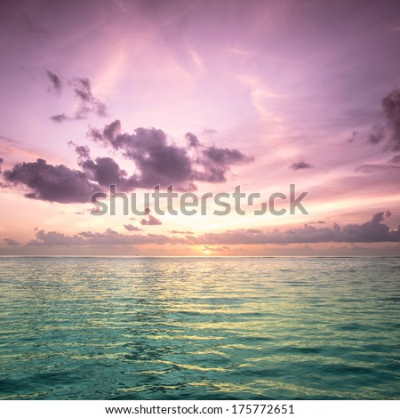 Tropical blue sea water in Maldives #175772651