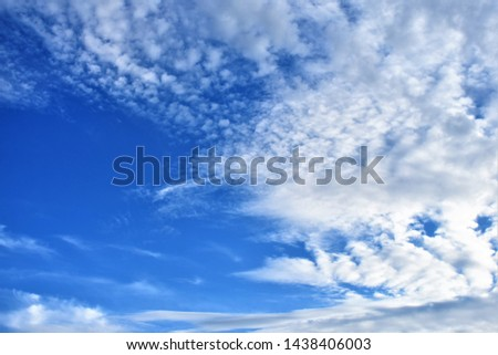 tropical blue sky white clouds as background #1438406003