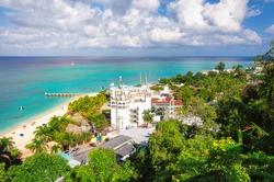 Tropical Caribbean island of Montego Bay, Jamaica