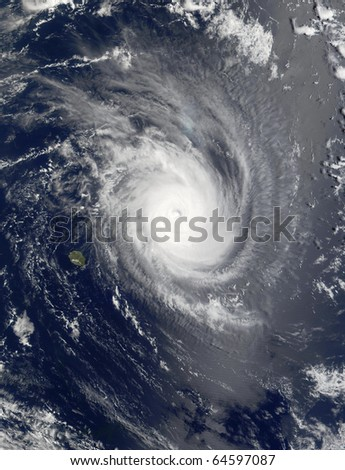 Tropical Cyclone Guillaume, northeast of Mauritius and La Reunion, Indian Ocean.