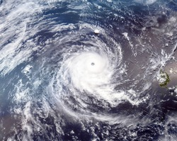Tropical Cyclone Wilma. Satellite view. Elements of this image furnished by NASA.