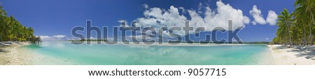 Tropical Dream Beach Paradise Panoramic of the South Pacific
