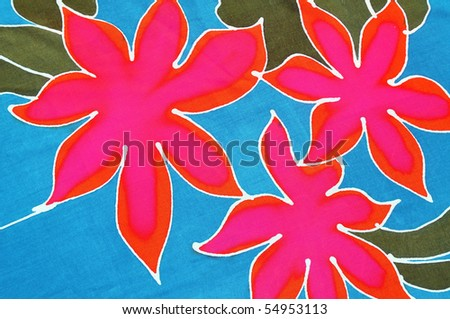 Tropical flowered background