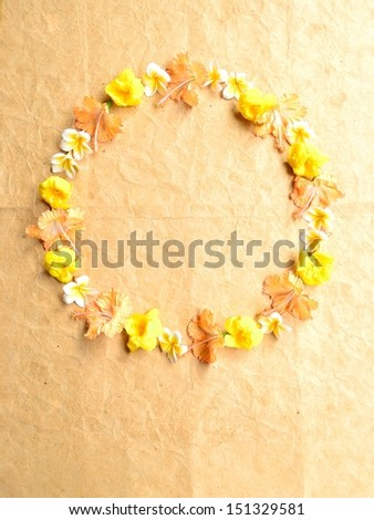 Tropical flowers.wreath