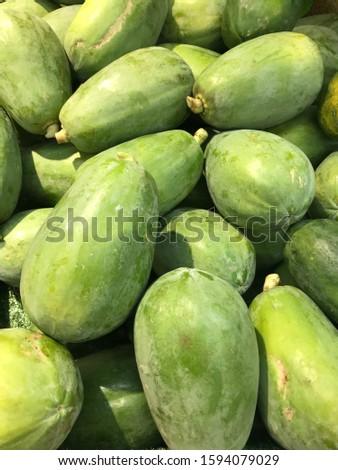 tropical fruit papaya, hainan island china