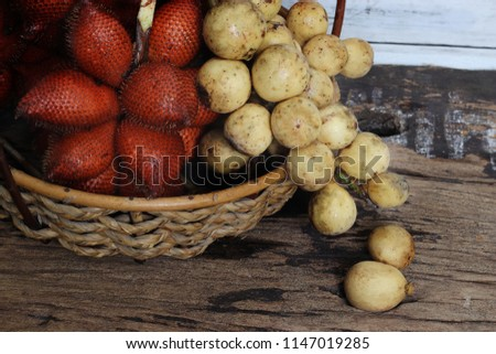 Tropical fruit,Sala or Zalacca it is sweet and sour fruit from Thailand. #1147019285