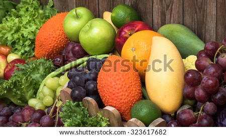 Tropical fruits and vegetables for healthy #323617682