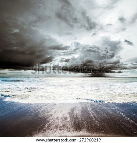 Tropical hurricane. Summer weather - cyclone