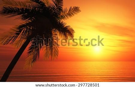 tropical island background 4 #297728501