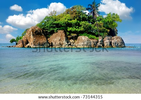 Tropical island, Trat archipelago, Thailand