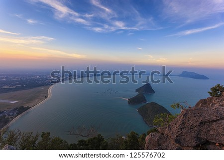 Tropical islands and city in Thailand