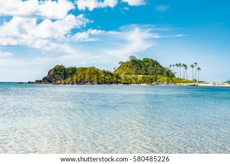 tropical landscape of the Philippines, El Nido's Twin Beaches, Nacpan and Calitang Beach