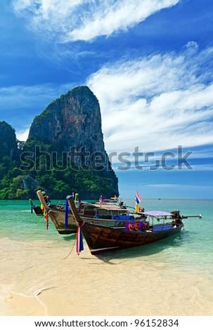 Tropical landscape. Railay Beach. Thailand.