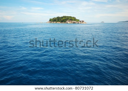 Tropical landscape view of Similan island, Thailand