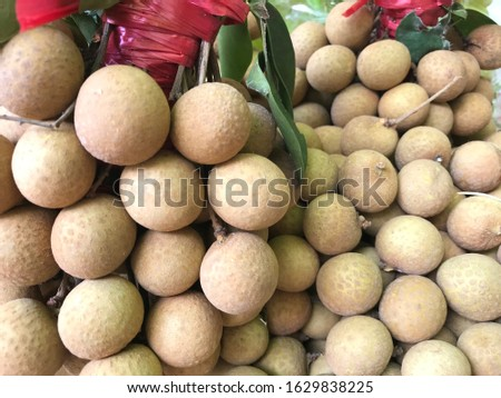Tropical Longan Fruit, Hainan Island, China