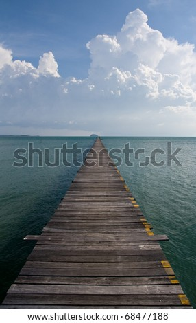 Tropical Ocean Jetty stretching into sea