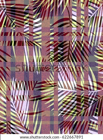 Tropical Palms with Stripes #622667891