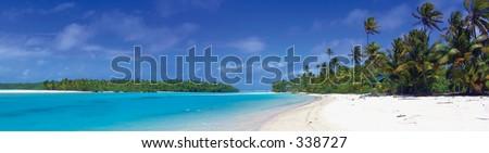 Tropical Panoramic Photo - Cook Islands