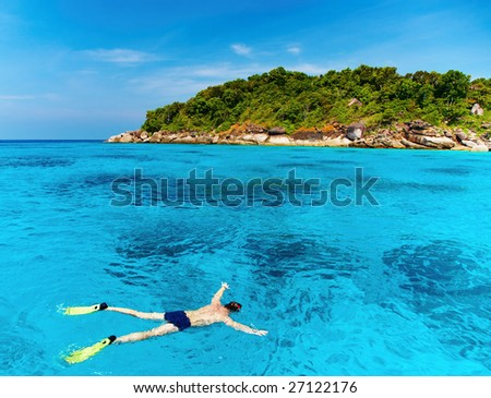 Tropical paradise, Similan islands, Andaman Sea,Thailand - stock photo