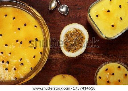 Tropical Passion Fruit Mousse also known as Maracuja or Maracuya Mousse