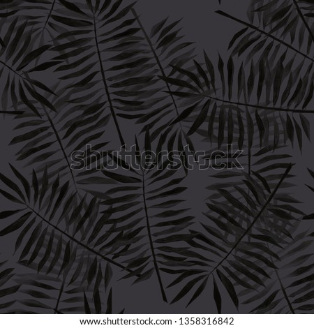 Tropical pattern. Pencil drawing