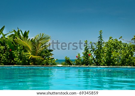 Tropical private pool near the sea