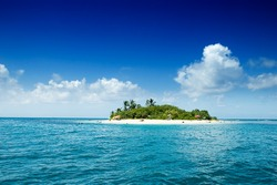 Tropical remote island in the ocean