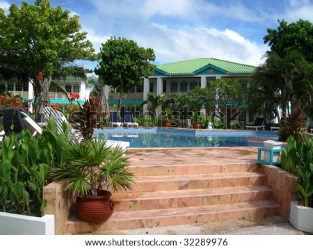 Tropical Resort at Ambergris Caye, Belize.