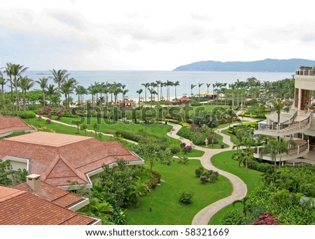 tropical resort in the south china sea