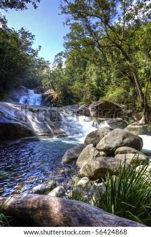 tropical river in the rain forest queensland australia #56424868