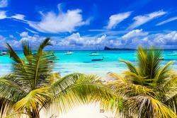 Tropical scenery - Cap Malhereux in Mauritius island
