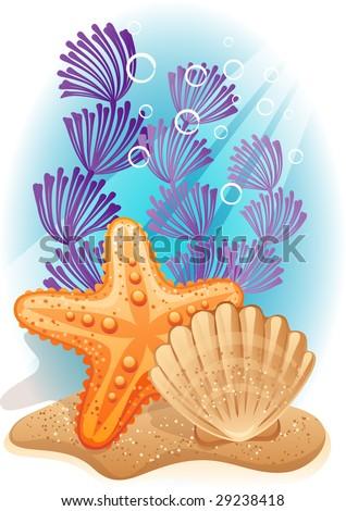 tropical sea bottom - raster version