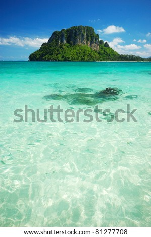 Tropical seascape view in Thailand