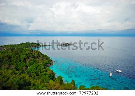 Tropical Seascape viewpoint, Similan Island, Thailand - stock photo