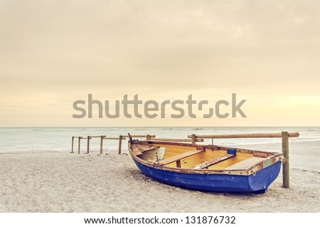 tropical seascape with a wooden ...