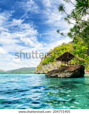 Tropical seashore. Coron, Busuanga island, Palawan province, Philippines. #204751405