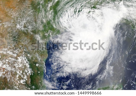 Tropical storm Barry heading towards Louisiana in 2019 - Elements of this image furnished by NASA #1449998666